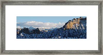 Framed Print featuring the photograph Truchas Peaks by Atom Crawford