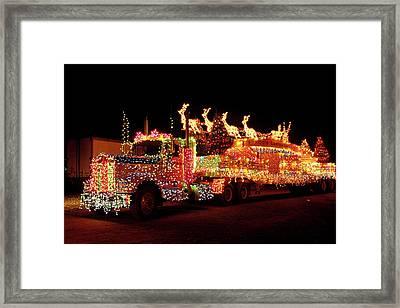 Truck 18 Wheeler Tractor Trailer Framed Print
