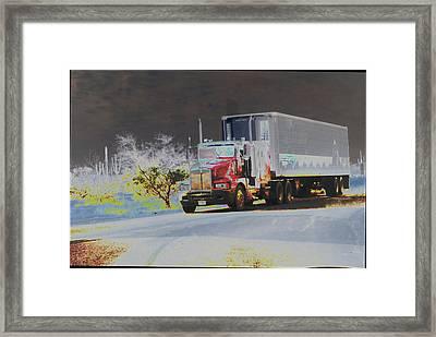Truck Framed Print by Astrid Lenz
