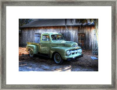 Truck By The Barn Framed Print