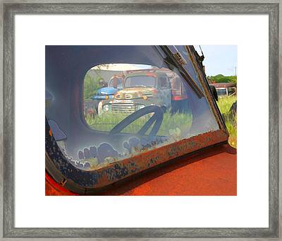 Framed Print featuring the photograph Truck Glass by Christopher McKenzie