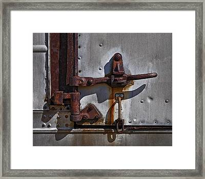 Truck Handle Framed Print by Murray Bloom