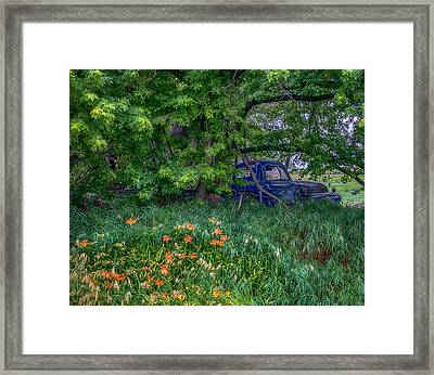 Truck In The Forest Framed Print
