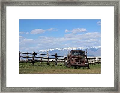 Truck In The Grass Framed Print