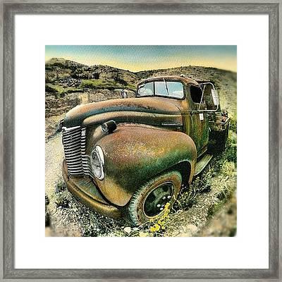 #truck #rust #rusty #pickup #photo Framed Print