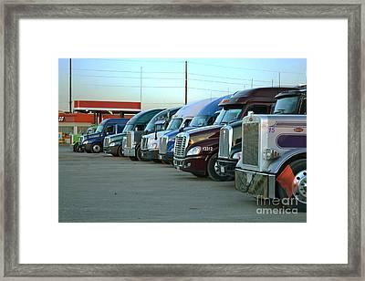 Truck Stop Framed Print
