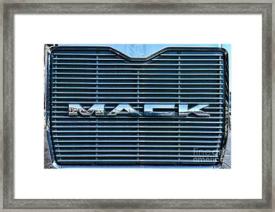 Truck - The Mack Grill Framed Print by Paul Ward