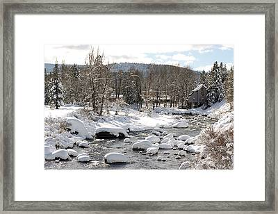 Truckee River At Christmas Framed Print by Denice Breaux
