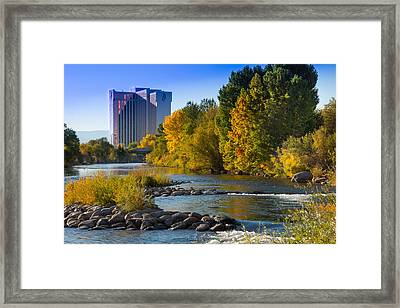 Truckee River From Sparks Framed Print by Janis Knight
