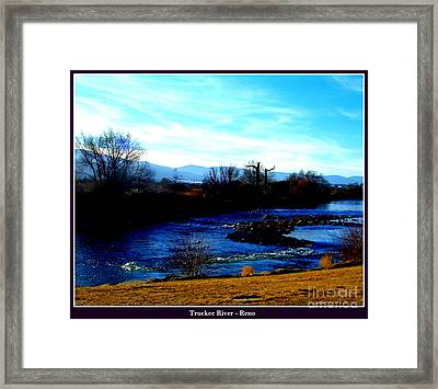 Framed Print featuring the photograph Truckee River In Motion by Bobbee Rickard