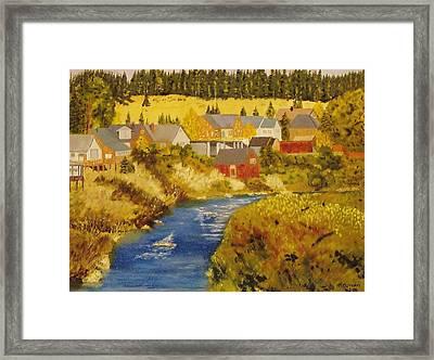 Truckee River - Truckee Ca Framed Print