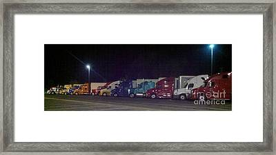 Truckin Framed Print by Polly Anna
