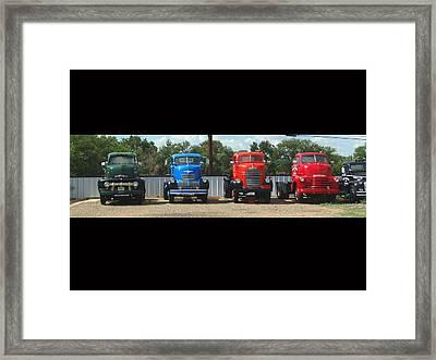 Truckin Framed Print