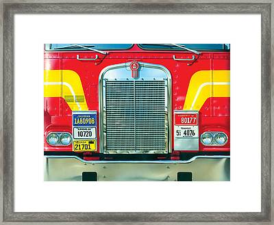 Trucking Framed Print by Brian James