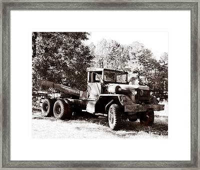 Trucking Framed Print