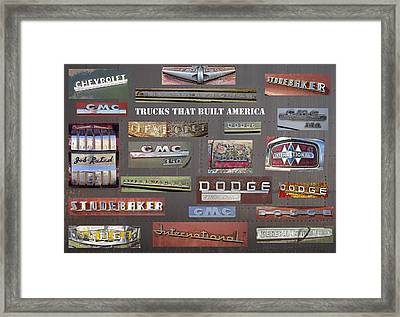Trucks That Built America Framed Print