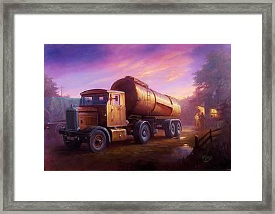 Truckstop 1956 Framed Print by Mike  Jeffries