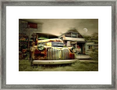 Truckyard Framed Print