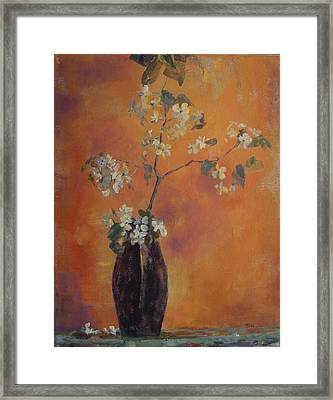Trudi's Vase Framed Print by Terri Messinger