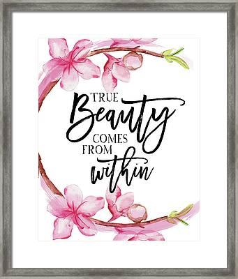 True Beauty Framed Print