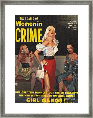 True Cases Of Women In Crime 1950 Framed Print