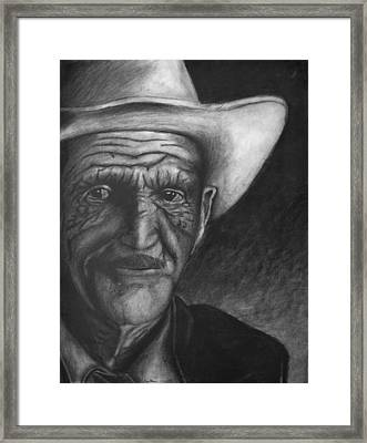 True Cowboy Framed Print by Jay Alldredge