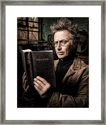 True Evil - Science Fiction - Horror Framed Print by Gary Heller
