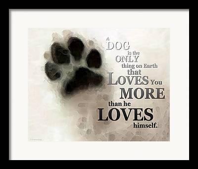 Dog Lover Framed Prints
