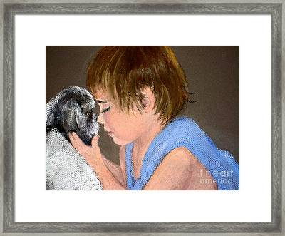 Framed Print featuring the painting True Love by Mary Lynne Powers