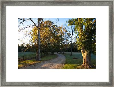 True Love Travels On A Gravel Road Framed Print by Bill Cannon