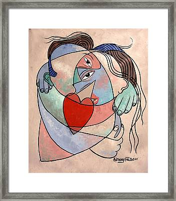 True Love When Two Become One Framed Print by Anthony Falbo