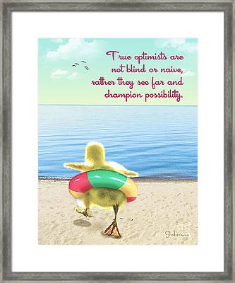 True Optimists Framed Print