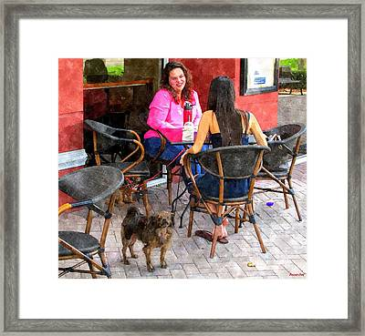 True Protector At Starbucks Framed Print by Buzz  Coe