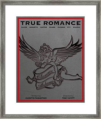 True Romance Movie Poster Framed Print by Finlay McNevin