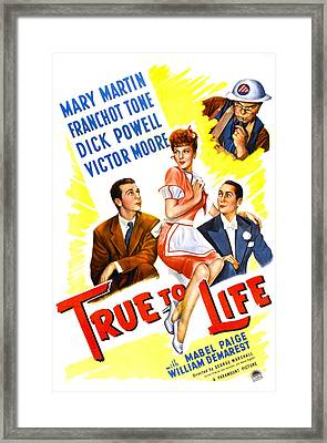 True To Life, Us Poster, Victor Moore Framed Print