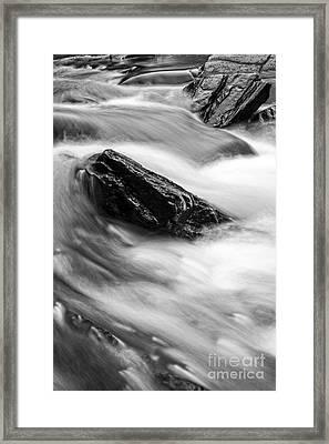 True's Brook Gorge Water Fall Framed Print by Edward Fielding