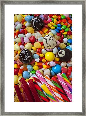 Truffles And Assorted Candy Framed Print by Garry Gay