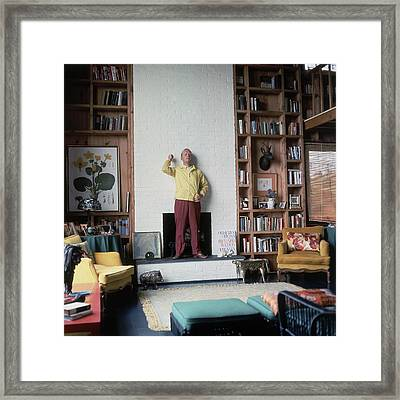 Truman Capote At Home Framed Print by Horst P. Horst