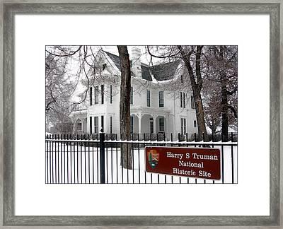 Truman Home Winter 2007 Framed Print