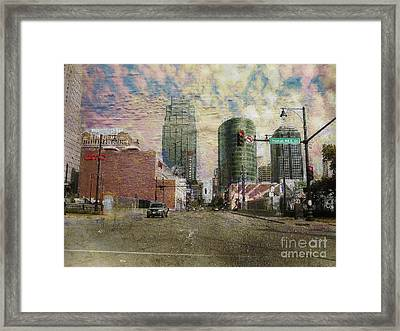 Truman Road Kansas City Missouri Framed Print by Liane Wright