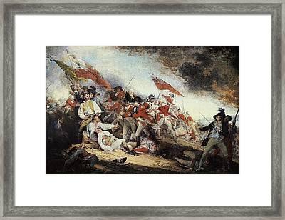 Trumbull, John 1756-1843. The Battle Framed Print by Everett
