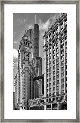 Trump And Wrigley In Harmony Framed Print by Christine Till