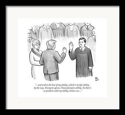 Swearing In Framed Prints