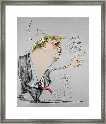 Trump In A Mission....much Ado About Nothing. Framed Print