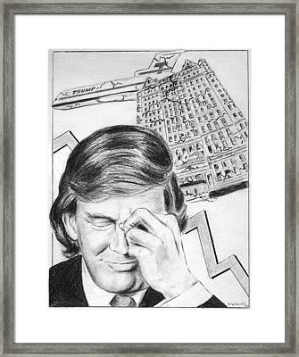 Trump In Trouble Framed Print