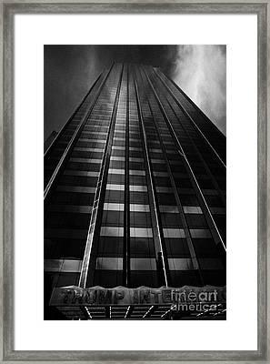 Trump International Tower And Hotel Former Gulf Western One Central Park West New York City Framed Print by Joe Fox