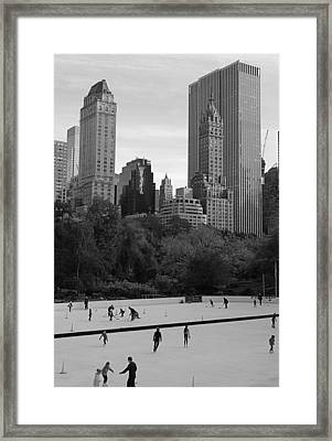 Trump Rink In New York City Framed Print by Dan Sproul
