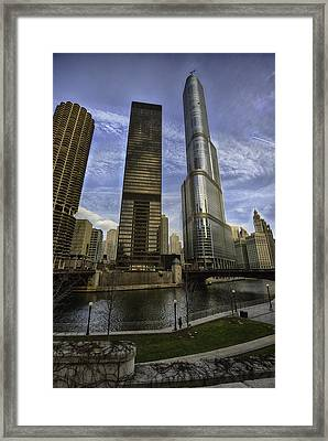 Trump Tower And River Front Framed Print