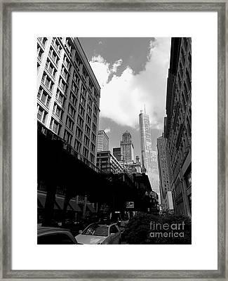 Trump Tower Framed Print by David Bearden