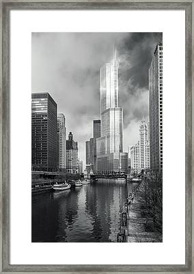 Framed Print featuring the photograph Trump Tower In Chicago by Steven Sparks